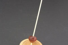 Bloodwood Micro Support Spindle with Bowl