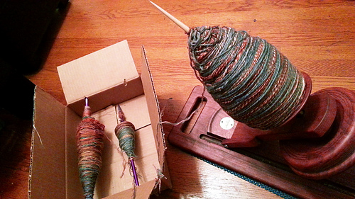 Plying on Kick Spindle