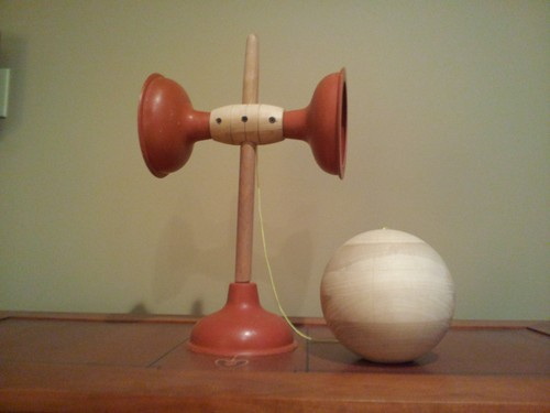 Large Kendama Made from Plungers