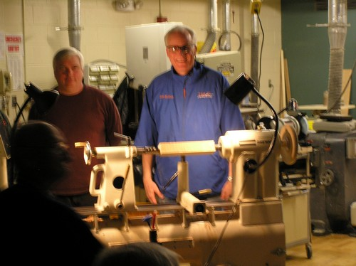 Demoing Spindle Turning