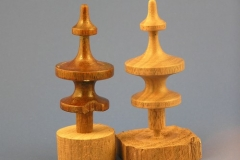 Walnut Finial