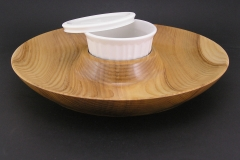 "Ash Chip & Dip Tray - 14"" in diameter"