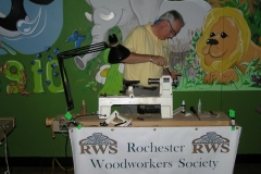 Demoing for Rochester Woodworking Society
