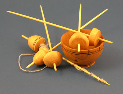 Micro Support Spindles with Cherry Bowl