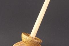 Marblewood Tibetan Spindle with Bowl